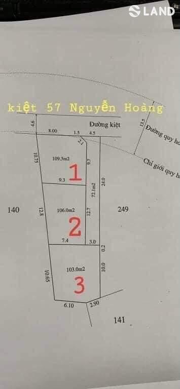 Bán đất đẹp kiệt 57 Nguyễn Hoàng